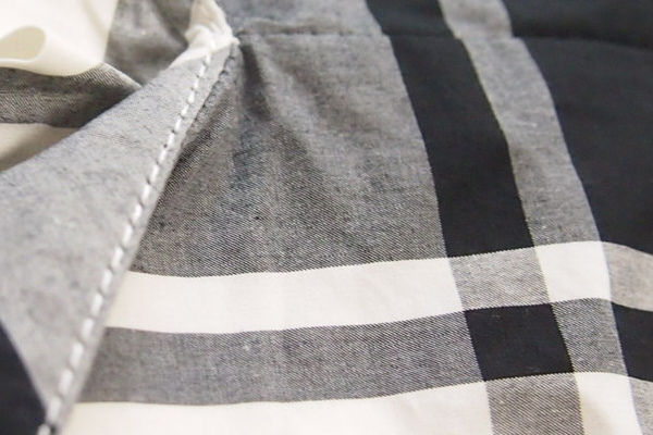 Squady (スカディ) タイプライタープルオーバーシャツ|コットン・綿シャツ|ブラウス|チェック柄|レディース