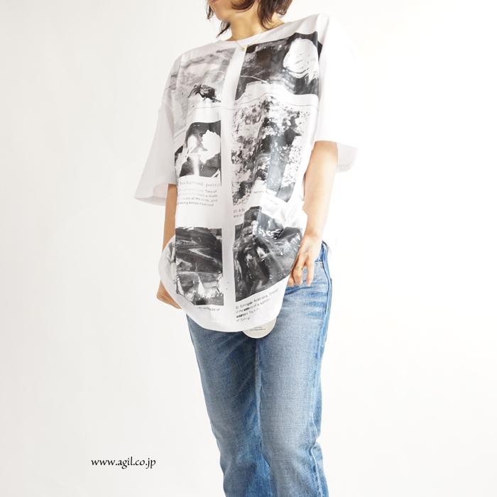 CILANDSIA(チランドシア) ビッグシルエットプリントTシャツ 図鑑 花 メンズ レディース