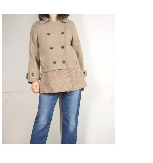 isato design works (イサトデザインワークス) 裾取り外し2WAYピーコート(Pコート)|ベージュ|レディース(13aw)【送料無料】