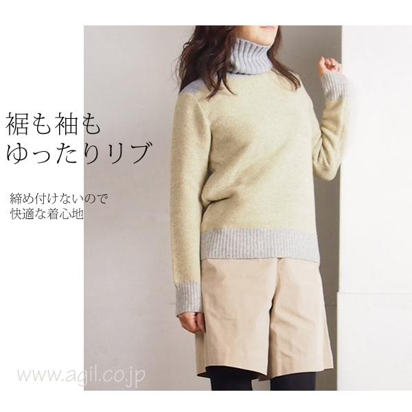 isato design works (イサトデザインワークス) タートルネック プルオーバーニット レディース