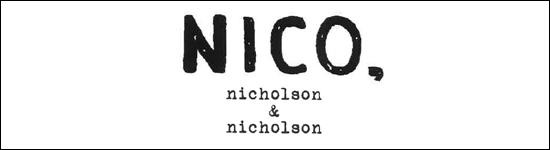 NICO,nicholson&nicholson,ニコ ニコルソンアンドニコルソン