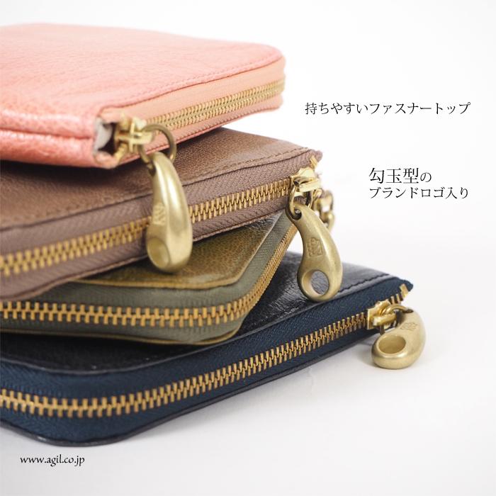 mononogu(もののぐ) L字ファスナー ゴートスキンレザー 財布 コインパース やぎ革