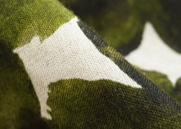 tiny dinosaur (タイニーダイナソー) タック膝丈スカート リーフパターン グリーン系 レディース
