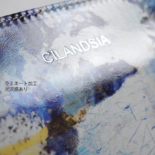 CILANDSIA(チランドシア) 牛革プリント ラウンドファスナー長財布 0067 レディース メンズ 送料無料